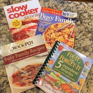 Set of 4 cook books